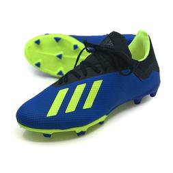 Mens Soccer Cleats ADIDAS X 18.3 Firm Ground FG Cleats Blue