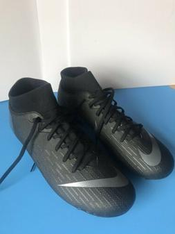 Nike Mercurial Size 7.5 Soccer Firm Ground Cleats Black