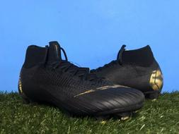 Nike Mercurial Superfly 6 Elite FG Black Gold Soccer Cleats