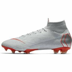 Nike Mercurial Superfly 6 Elite Fg Grey/Crimson Soccer Cleat