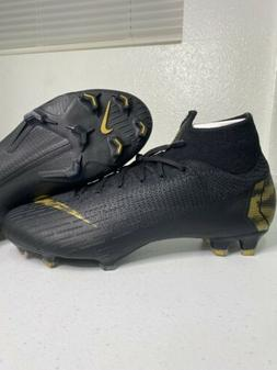 Nike Mercurial Superfly 6 Elite FG Soccer Cleats Blk Gold AH