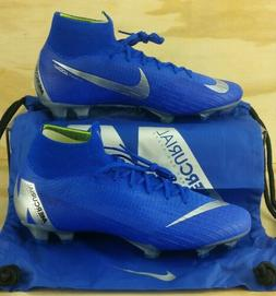 NIKE Mercurial Superfly 6 VI Elite FG Cleats Blue AH7365-400