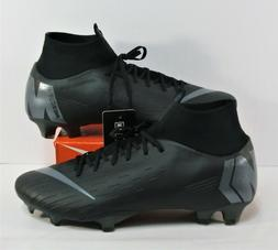 Nike Mercurial Superfly 6 Vl PRO FG Black Soccer Cleats Sz 1