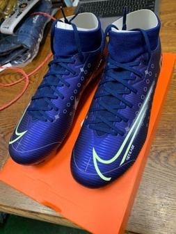 nike mercurial superfly 7 academy MDS FG/MG BLUE CR7 Soccer