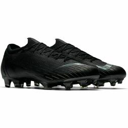 NIKE MERCURIAL VAPOR 12 ELITE 360 FG BLACK SOCCER CLEATS MEN