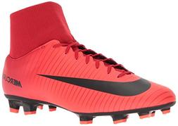 NIKE Men's Mercurial Victory VI DF FG Soccer Cleat  Red, Bla