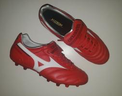 Mizuno Morelia ll AG Red Leather Soccer Cleat Football Boot