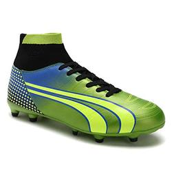 DREAM PAIRS Men's 160862-M N.Green Black Blue Cleats Footbal