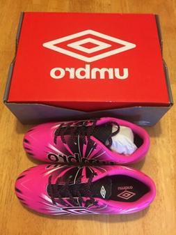 NEW Umbro Arturo 3.0 Soccer Cleats Kids PINK Size 1 Youth NI