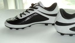 New Boys VIZARI Infinity FG Soccer Cleats/Shoes Black/White