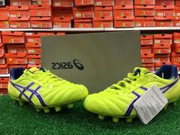 New Asics DS Lights Firm Ground Soccer Cleats Yellow / Blue
