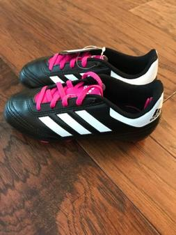 NEW Girls Adidas Goletto VI Soccer Cleats Black & Pink Size