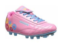 "NEW Vizari Girls Soccer Cleats Pink/Blue w Flowers ""Blossom"""