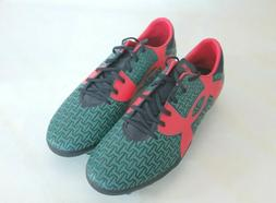 NEW Under Armour Men's Force Soccer Green/Red Cleats size 12