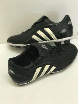 NEW ADIDAS MENS TRAXION HARD GROUND SOCCER CLEATS BLK/White