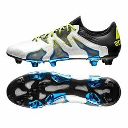 New Mens Adidas X 15 + SL FG AG Soccer Cleats 11.5 White Bla