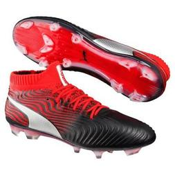 New Puma ONE 18.1 Syn FG Soccer Cleats Men's Size 7-13 Black