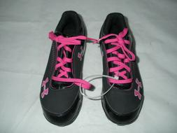 New Pink and Black Girls Under Armour Soccer Cleats Youth Si