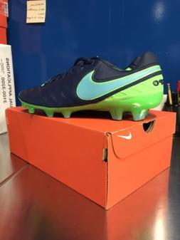 NEW NIKE TIEMPO LEGEND VI FG BLUE/GREEN SOCCER CLEATS  MEN'S