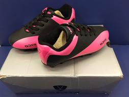 NEW Vizari Vigo FG Junior Soccer Cleats- Black / Pink Size 8