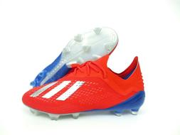 NEW Adidas x 18.1 FG red blue silver Soccer Cleats BB9347 Sh