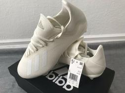 NEW Adidas X 18.3 FG Soccer Cleats - Off White Firm Ground S