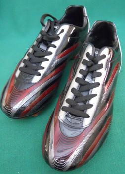 VIZARI PALERMO MENS BLACK, RED AND SILVER SOCCER SHOES/CLEAT