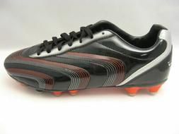 Vizari Men's Palermo Soccer Cleats Shoes Black Red Silver 93
