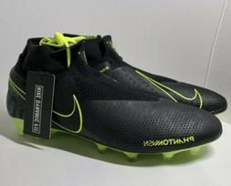 Nike Phantom Vision Elite DF FG ACC Black Volt Soccer Cleats