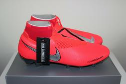 Nike Phantom Vision Elite DF FG Crimson/Silver Soccer Cleats