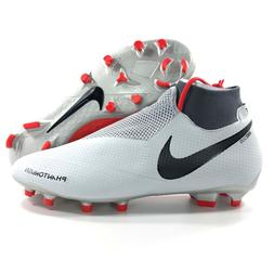 Nike Phantom VSN Pro FG Soccer Cleats Grey Black Red AO3266-