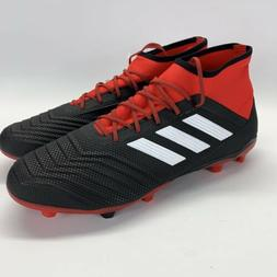 Adidas Predator 18.2 FG Soccer Cleats Controlskin Black-Red-