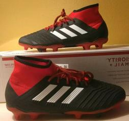 Adidas Predator 18.2 FG Soccer Shoes Black White Red Cleats