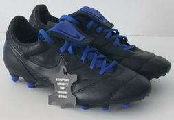 Nike Premier II Soccer Cleats FG Black Blue Kangaroo Leather