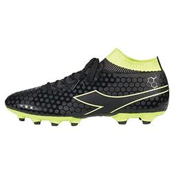 Diadora Unisex Primo MD LPU Black/Fluo Yellow Men's 9.5, Wom