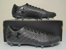 RARE Under Armour CF Force 3.0 Soccer Cleats Black FG Sz 11.
