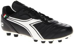 Diadora Soccer Men's Brasil Classic MD PU Soccer Cleat,Black