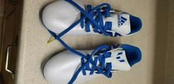 Adidas Soccer Cleats Size US 5 1/2 white and blue