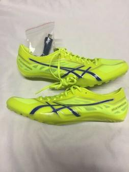 Asics Soccer Cleats SONICSPRING Men's Shoes Athletic,Neon Gr