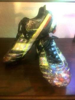 NEW CUSTOM CLEATS Hand painted Iridescent Holographic Fun Vi