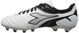 Diadora Soccer Men's Maracana L Soccer Cleat,White/Black,7 M