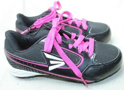 EASTON SOCCER SHOES CLEATS, YOUTH SIZE 3 BLACK & HOT PINK, N