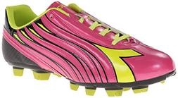Diadora Women's Solano Soccer Cleat Shoes, Magenta/Yellow, 8