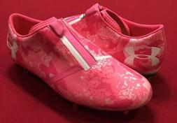 Under Armour Spotlight Pro FG Soccer Cleats Pink Craze Breas
