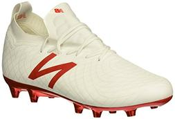 New Balance Men's Tekela 1.0 Pro FG Soccer Shoe, White/Flame