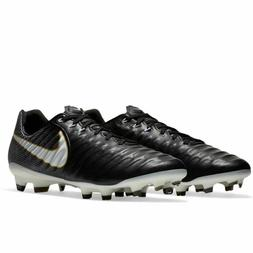 Nike Tiempo Legacy III FG Soccer Cleats - Black/White - 8977