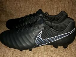 Nike Tiempo Legend 7 Elite Calfskin FG Black Soccer Cleats S