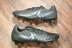Nike Tiempo Legend 7 Elite FG JR Soccer Cleats Black/Silver