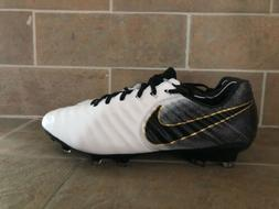 NIKE TIEMPO LEGEND 7 ELITE FG SOCCER CLEATS SIZE 8 WHITE/BLA