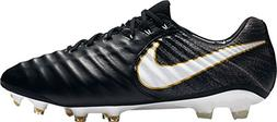 NIKE Tiempo Legend VII FG Men Soccer Cleats - Black White  U